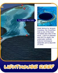 Discover Lighthouse Reef Dive Sites including the Great Blue Hole