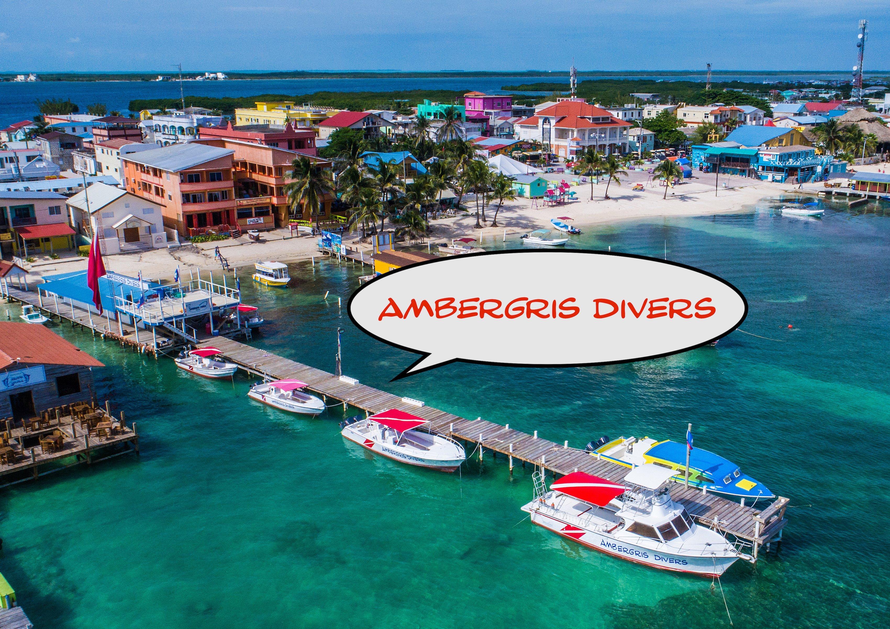 Ambergris Diver's Dive Shop Aerial