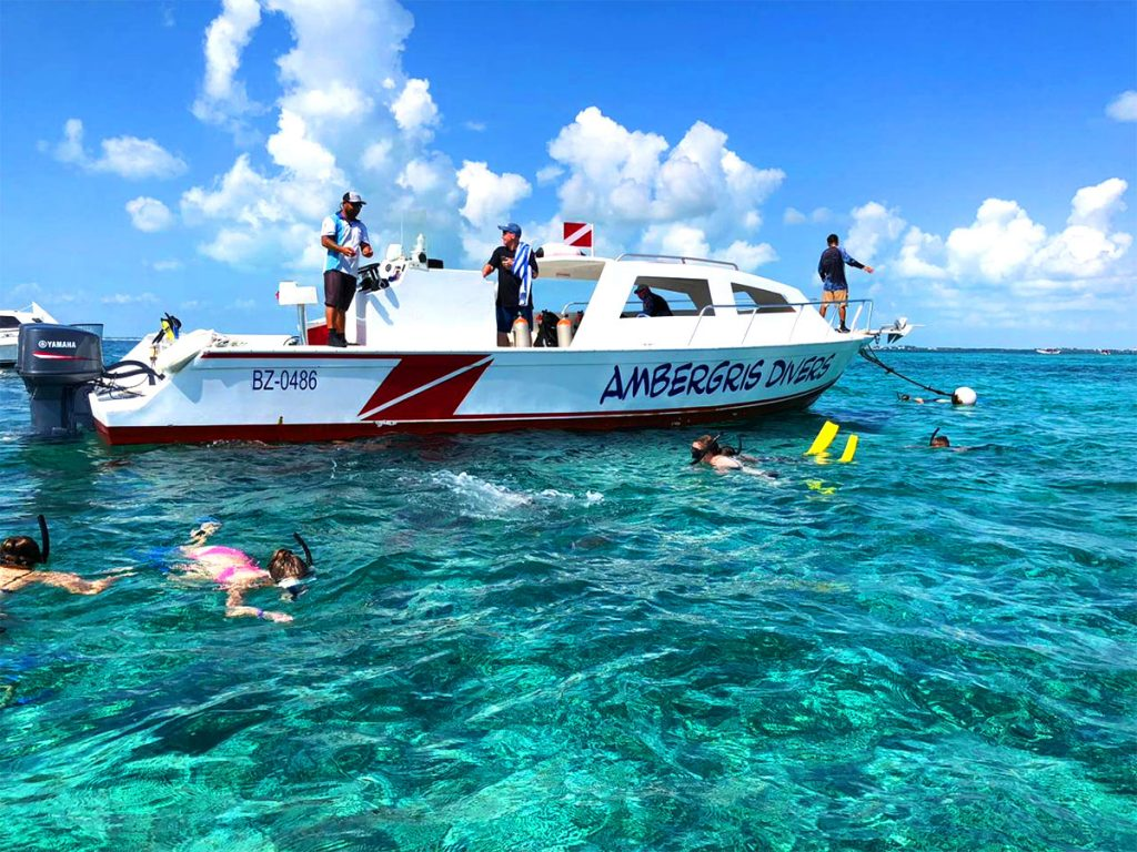 Snorkeling with Ambergris Divers